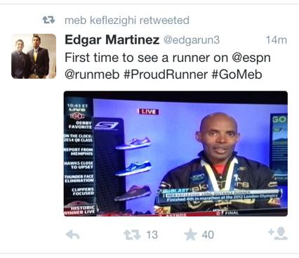 Meb on ESPN, at last
