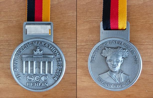 Berlin Marathon 2014 medal