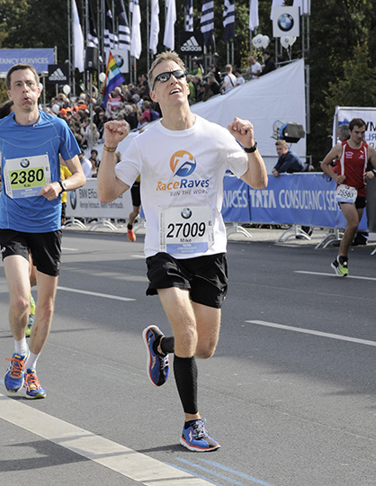 Mike Sohaskey - at Berlin Marathon finish