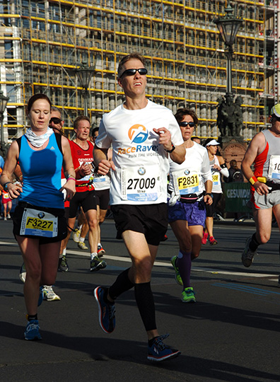 Mike Sohaskey on Berlin Marathon course