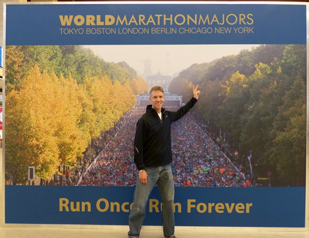 Mike Sohaskey at Berlin Marathon Expo