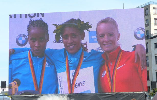 Berlin Marathon - Top 3 female finishers