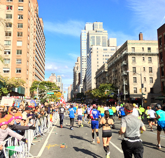 New York City Marathon - on 1st Avenue in Manhattan