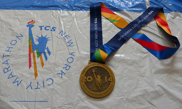 New York City Marathon 2014 medal