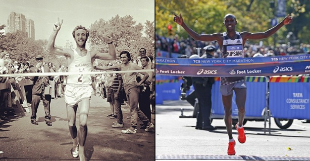 New York City Marathon winners (1970 & 2014)