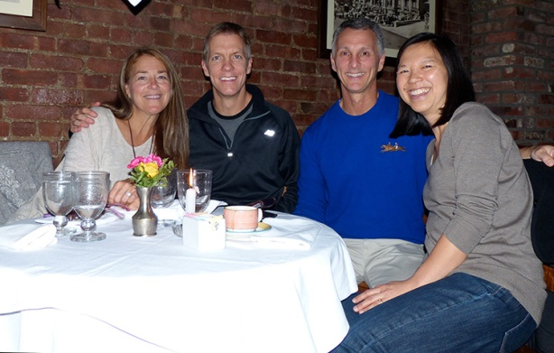 Mike Sohaskey and Katie Ho at dinner with Jeff & Susan at Lattanzi