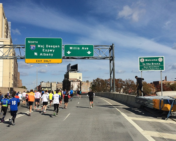 New York City Marathon - Willis Ave Bridge entering Bronx