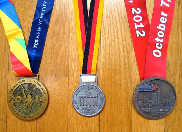 World Marathon Majors (New York, Berlin & Chicago) medals