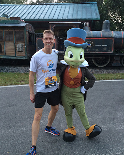 Mike Sohaskey with Jiminy Cricket