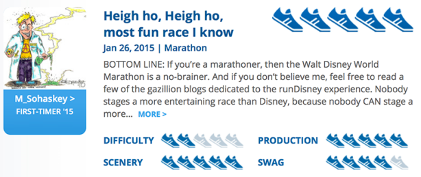 Mike Sohaskey's RaceRaves review for Walt Disney World Marathon