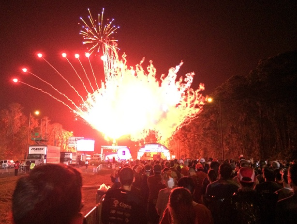 Walt Disney World Marathon start line fireworks