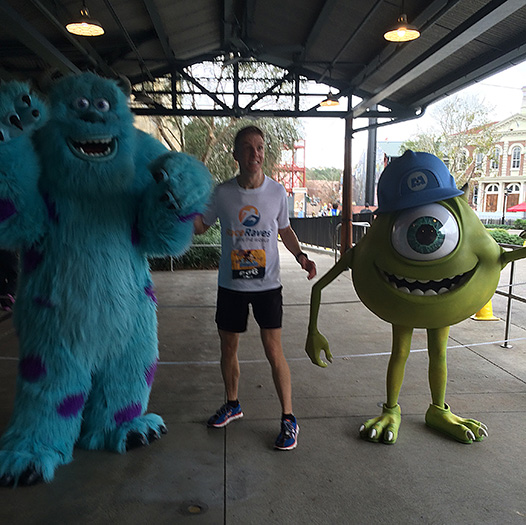 Mike Sohaskey with Sully & Mike Wazowski