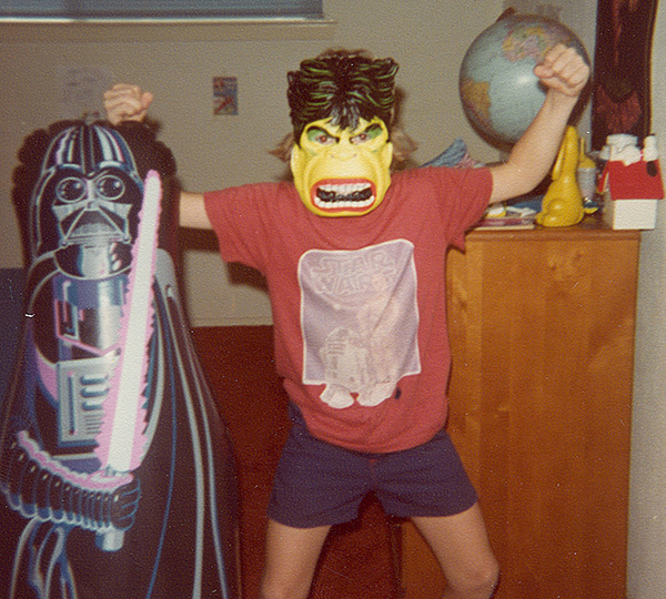 Mike Sohaskey as the Hulk, circa 1978