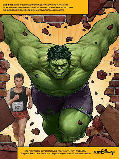 Avengers Half Marathon Hulk ad in Runner's World