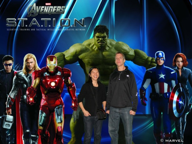 Mike Sohaskey & Katie Ho at Avengers S.T.A.T.I.O.N in NYC