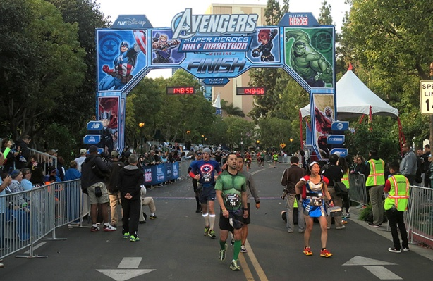 Avengers Half Marathon finish line