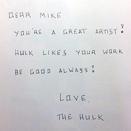 Letter to M.Sohaskey from the Hulk