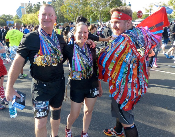 Sporting all 2014 runDisney finishers medals