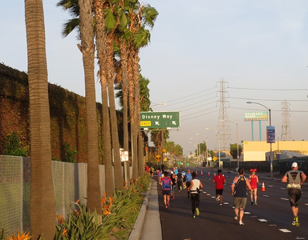 Disney Way - Avengers Half Marathon course