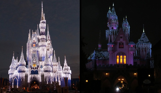 Cinderella vs. Sleeping Beauty Castles at runDisney races