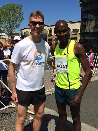 Mike Sohaskey & Bernard Lagat - 2015 Carlsbad 5000