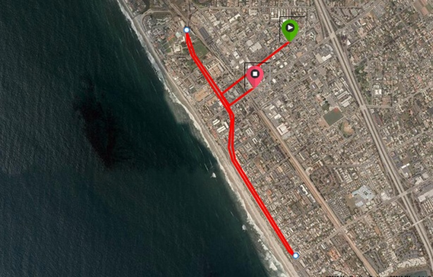 2015 Carlsbad 5000 - People's Course Google Earth map