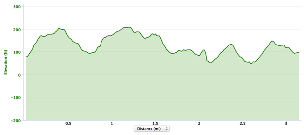 Carlsbad 5000 course elevation profile
