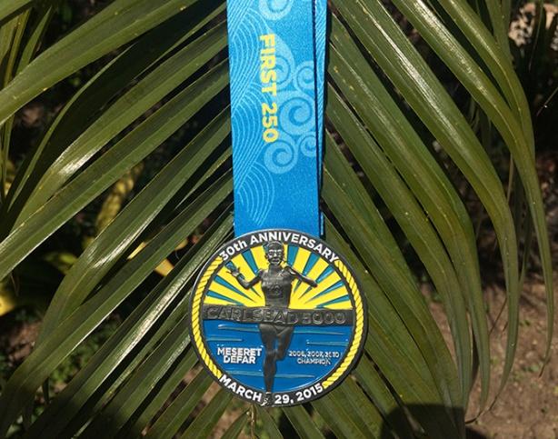 2015 Carlsbad 5000 medal