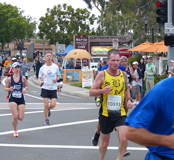 Mike Sohaskey at mile 2.1 of Carlsbad 5000