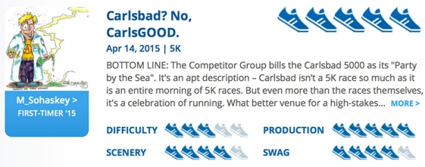 Mike Sohaskey - RaceRaves review of Carlsbad 5000