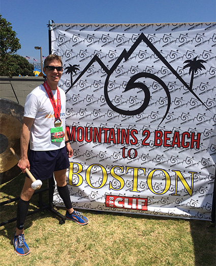 Boston Qualifying Mike Sohaskey at Mountains 2 Beach Marathon