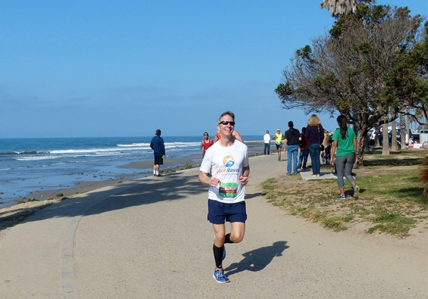 Mike Sohaskey - 2015 Mountains 2 Beach Marathon at mile 23
