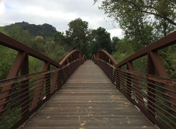 San Antonio Creek footbridge on Ventura River Trail