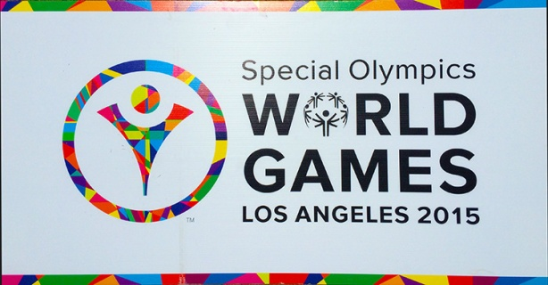 Special Olympics World Games LA 2015 sign