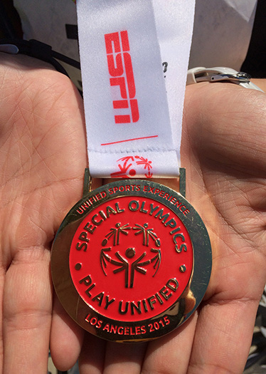 Special Olympics World Games Unified triathlon medal
