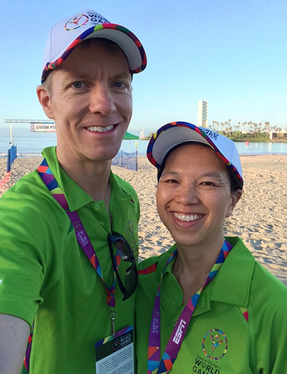 Special Olympics World Games volunteers - Mike Sohaskey & Katie Ho