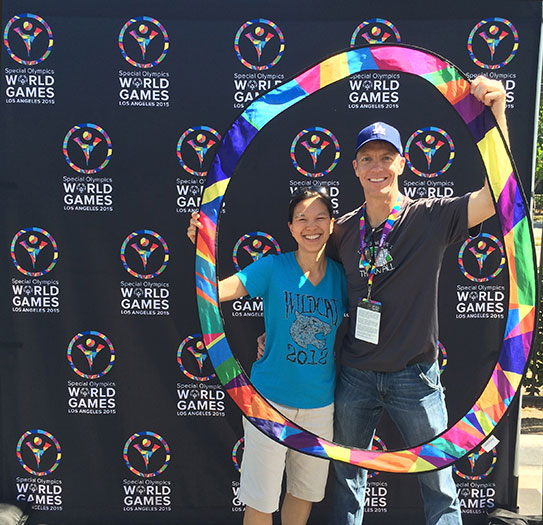 Special Olympics World Games photo opp - Mike Sohaskey & Katie Ho
