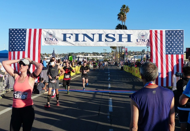 Inaugural USA Half Marathon Invitational Finish line