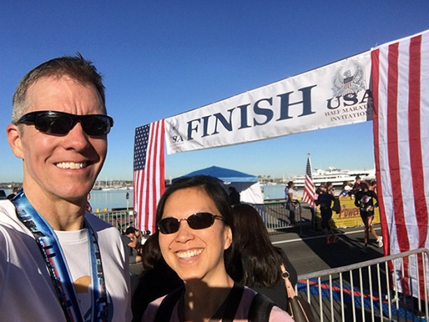 Mike Sohaskey & Katie Ho post-Inaugural USA Half Marathon Invitational