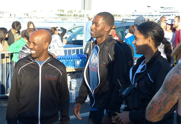 Inaugural USA Half Marathon Invitational Race organizers (L to R) Hawi Keflezighi, Ken Nwadike Jr & Sabrina Nwadike