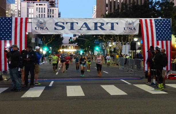 Inaugural USA Half Marathon Invitational Start line