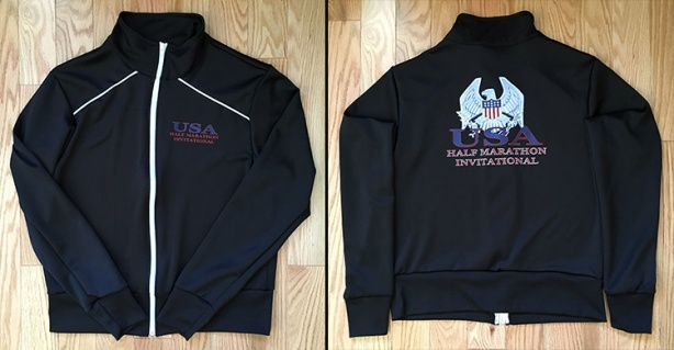 Inaugural USA Half Marathon Invitational finisher's jacket