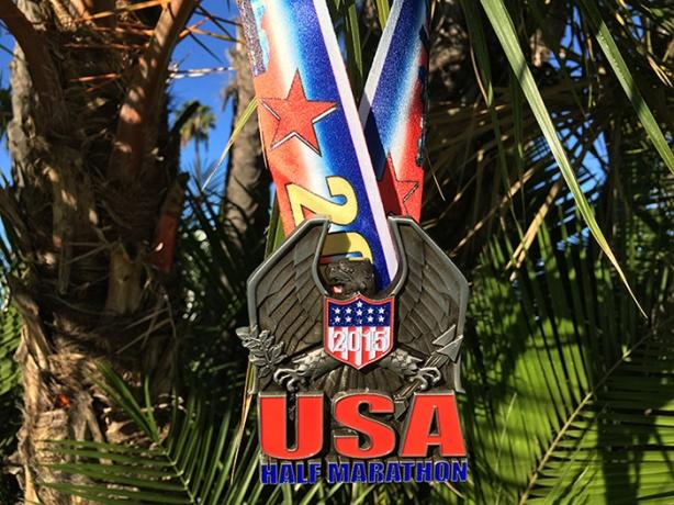 Inaugural USA Half Marathon Invitational medal
