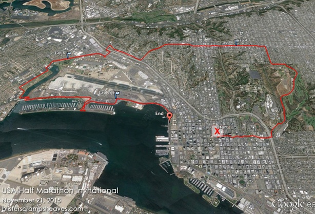 Inaugural USA Half Marathon Invitational course map