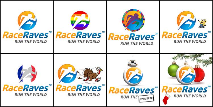 RaceRaves logos in 2015