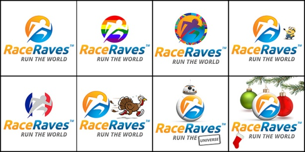 RaceRaves logos in 2015