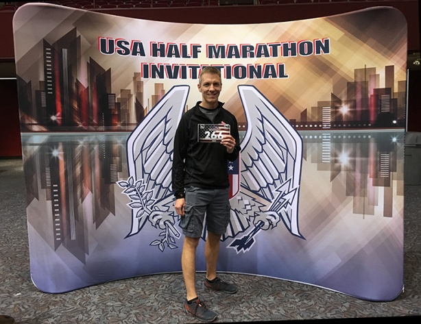 Mike Sohaskey at USA Half Marathon expo