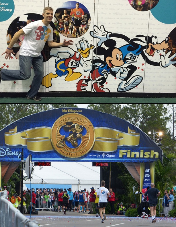 Mike Sohaskey at Walt Disney World Expo & finish line