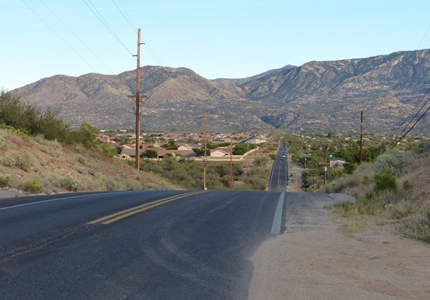 Mile 23 hill on Edwin Road - Tuscon Marathon 2015
