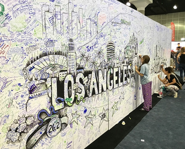Mural at Los Angeles Marathon Expo 2016